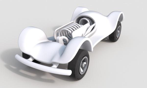 3D Printed Spring Car by Chris