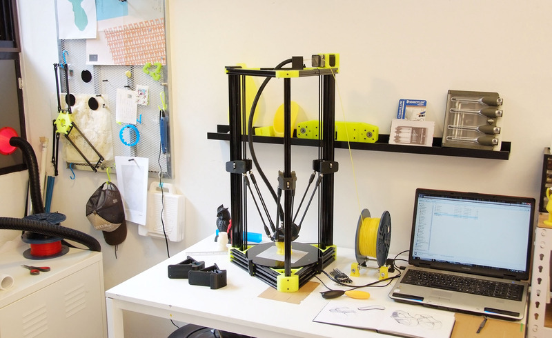 Taiwan s atom delta 3d printer launches on zeczec 3d 3d printer plan