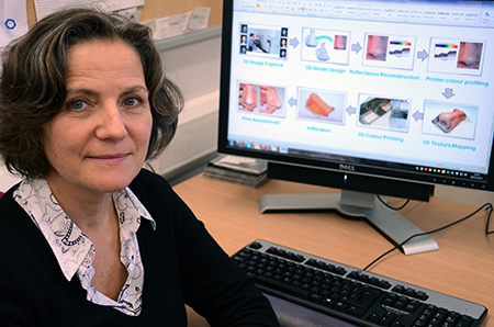 Dr Sophie Wuerger 3d printed skin