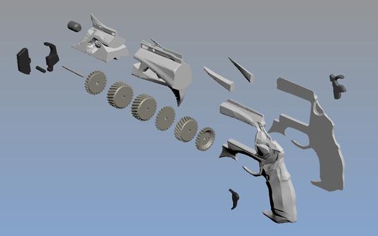 3D Printed Destiny Gun Thorn 3