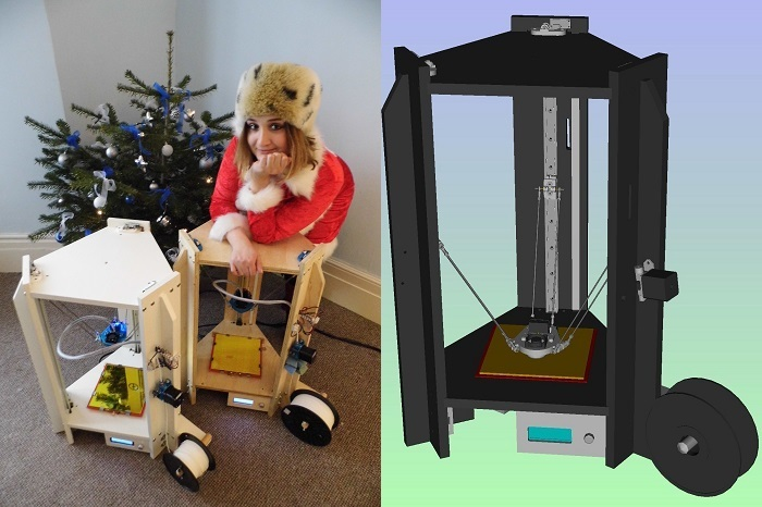 DeltaTrix Delta 3D Printer Kickstarter 2