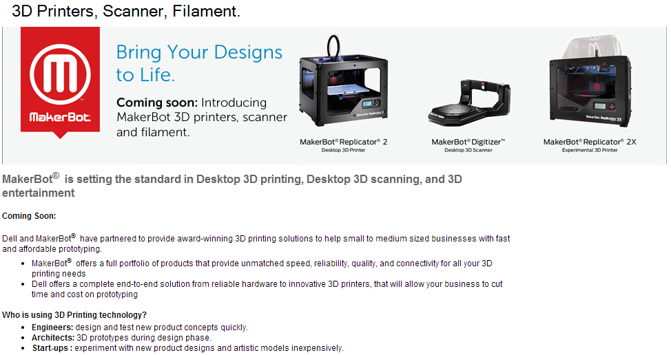 Dell MakerBot