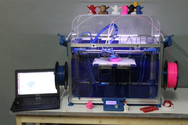 Lathon dual nozzle 3D Printer 4