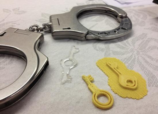 3d printed handcuff key