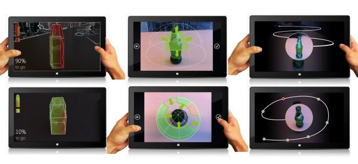 Microsoft Skynet UI 3D Scanning