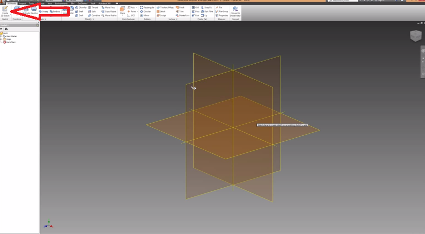 2014-06-03 20_26_33-Autodesk Inventor Basics & Extrusions Tutorial - YouTube
