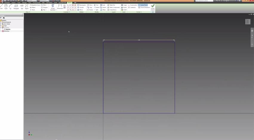 Autodesk inventor tutorial making holes 3d printer plans for 3d printer plan