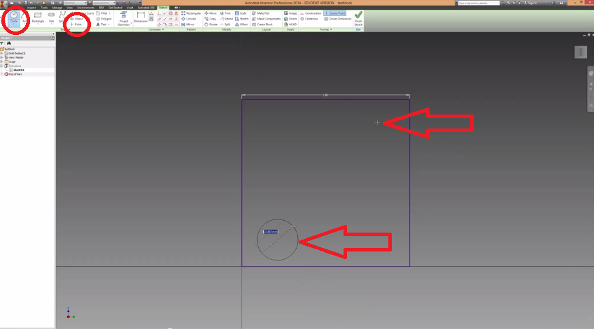 2014-06-15 19_52_36-Autodesk Inventor How To Make Holes And Extrusions Tutorial - YouTube