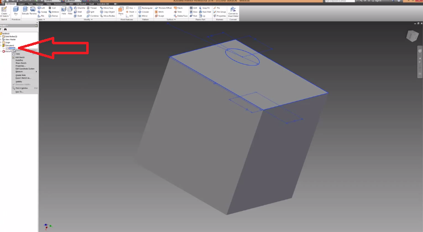 2014-06-15 19_54_15-Autodesk Inventor How To Make Holes And Extrusions Tutorial - YouTube
