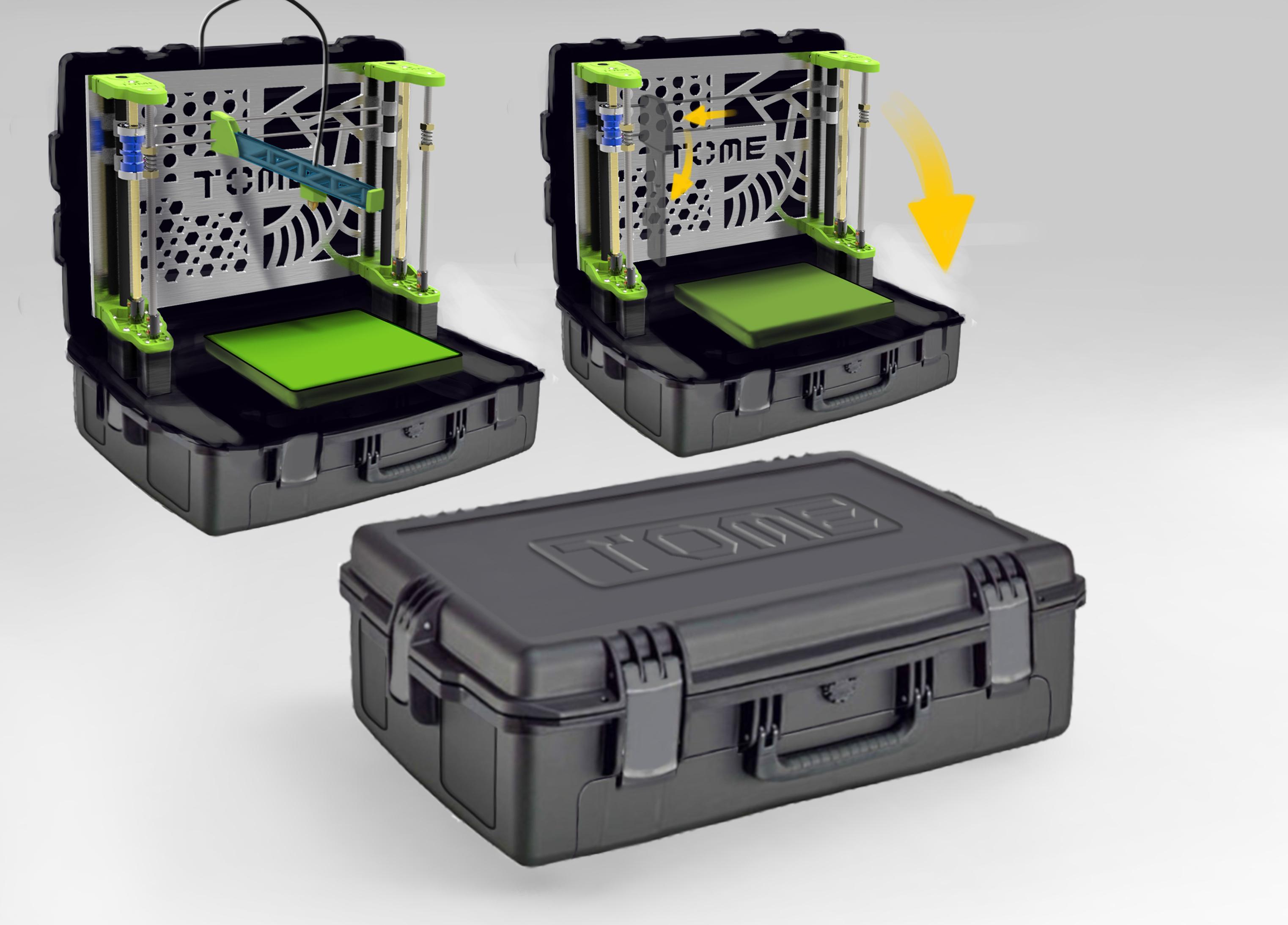 TOME portable 3D printer 2