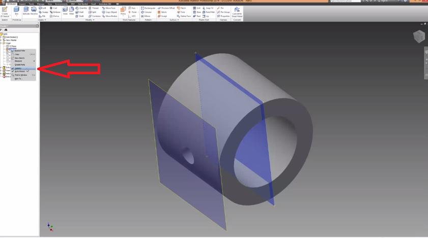 Autodesk Inventor Tutorial – Work Planes