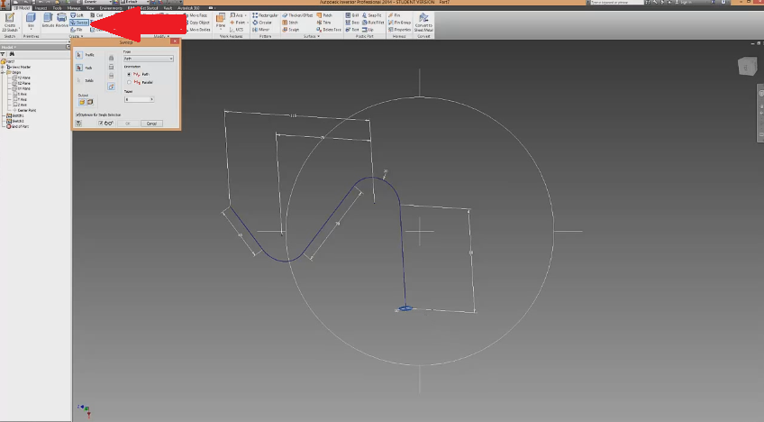 2014-07-30 22_21_31-Autodesk Inventor Sweep Tutorial - YouTube