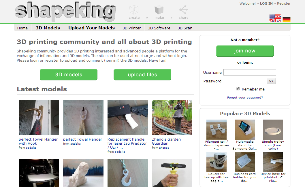 2014-08-21 14_14_07-SHAPEKING - 3D printable Models and all about 3D Print