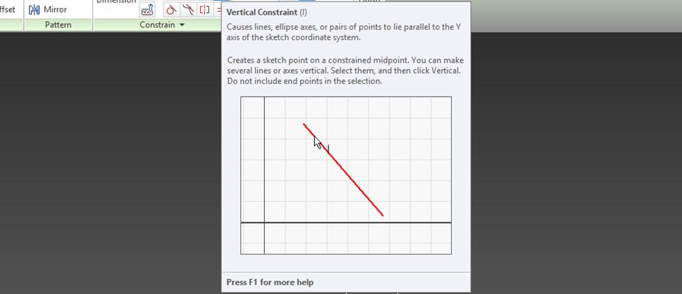 Figure 23 – Vertical Constraint