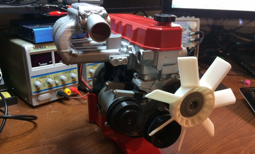 This Working 3D Printable Toyota Engine is Amazing