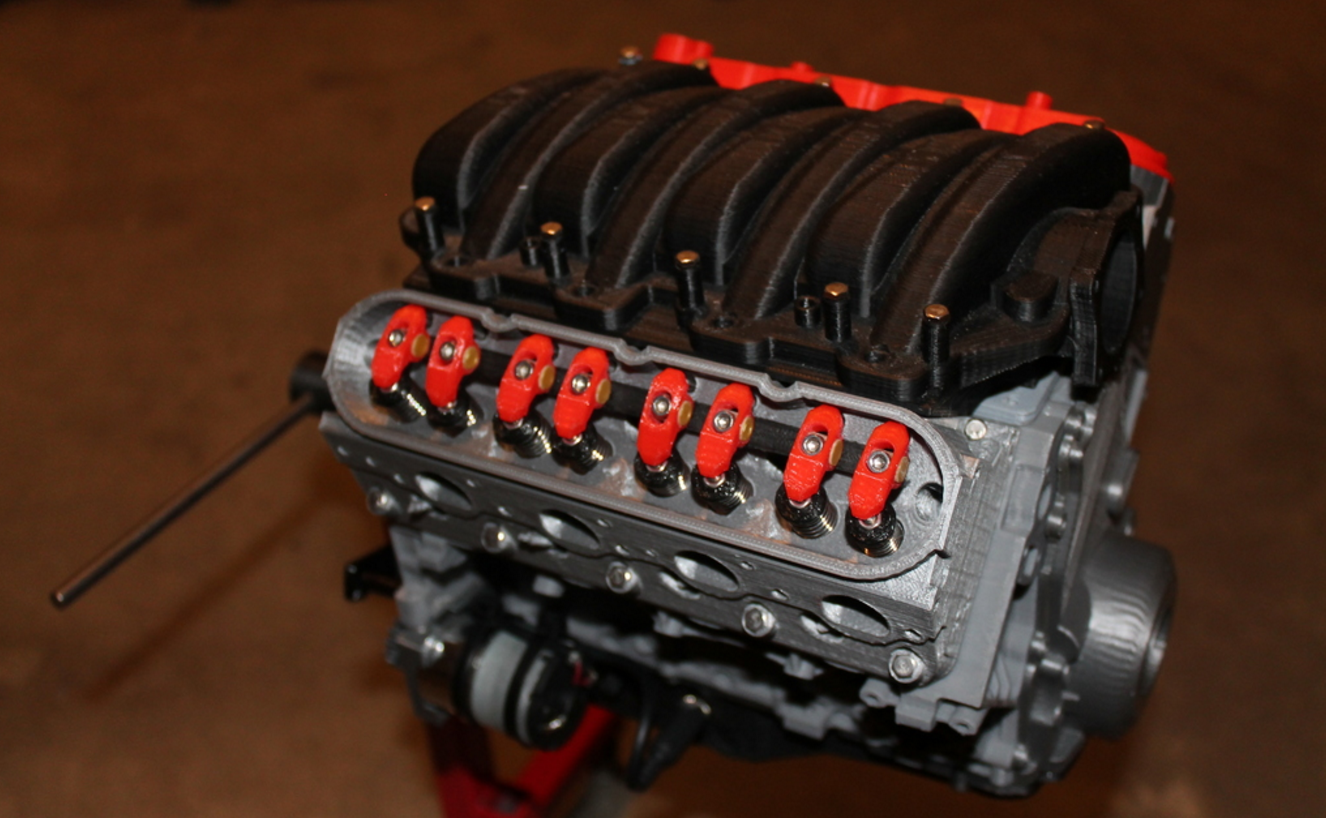 Print A Scale Working Model Of A Chevy V8