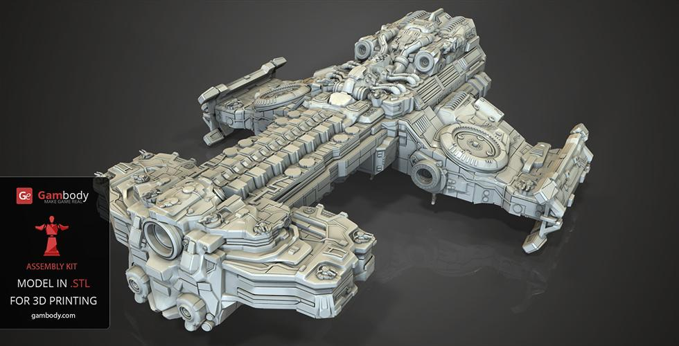 Gambody Reveals 3D Printed Hyperion Battlecruiser