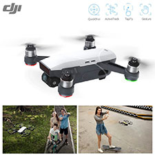 DJI Spark Palm Launch Travel Selfie Drone