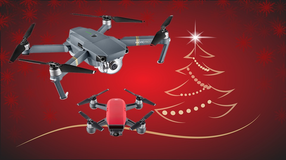 Best Drones for Christmas (DJI Mavic Pro, Spark, Parrot, and more)