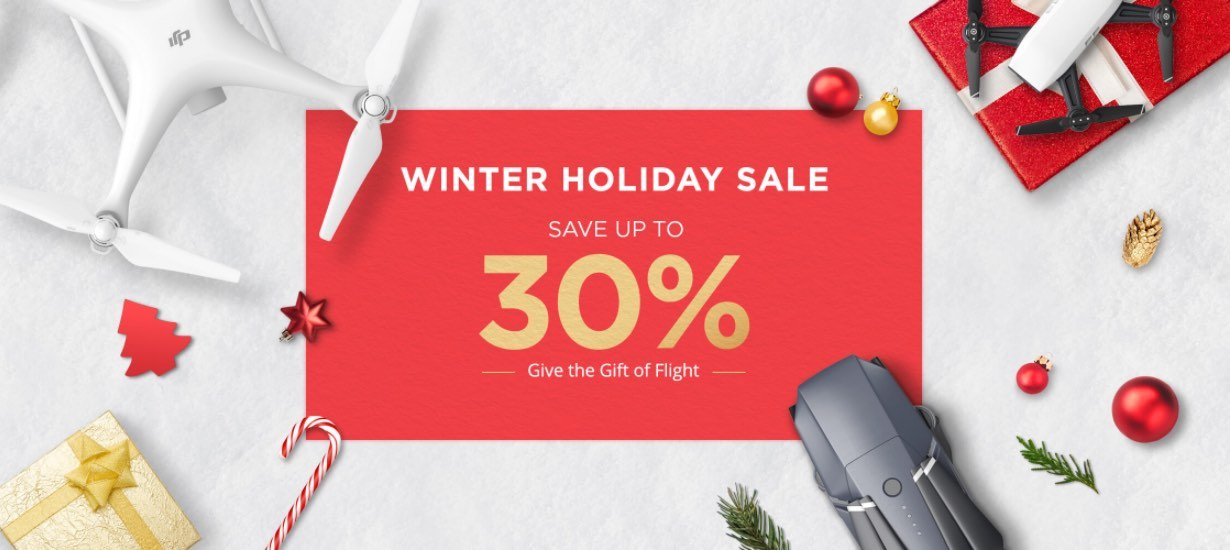 DJI Launches Christmas Drone Sale (Mavic Pro, Phantom, Spark)