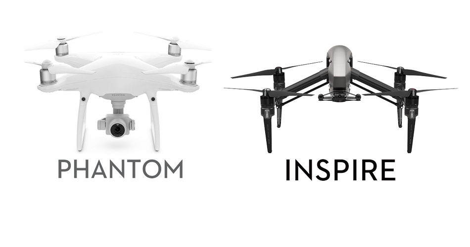 DJI Inspire vs Phantom Series Comparison