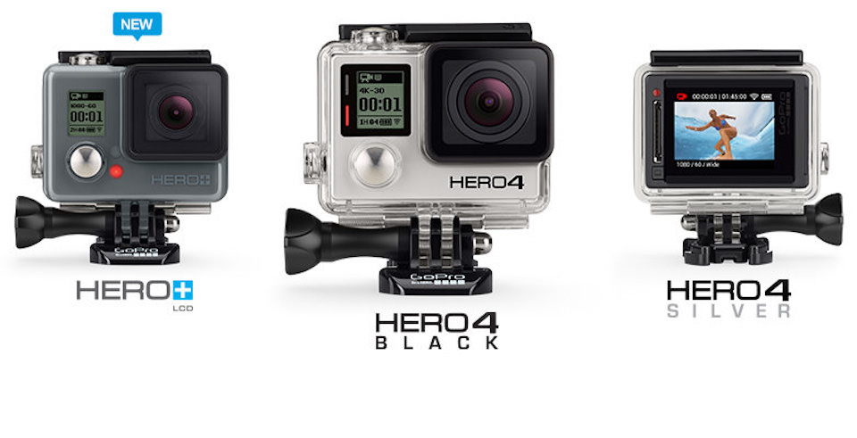 GoPro Comparison Compare Hero 3 4 5 6 Silver And Black
