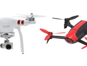 Parrot Bebop vs DJI Phantom Drones