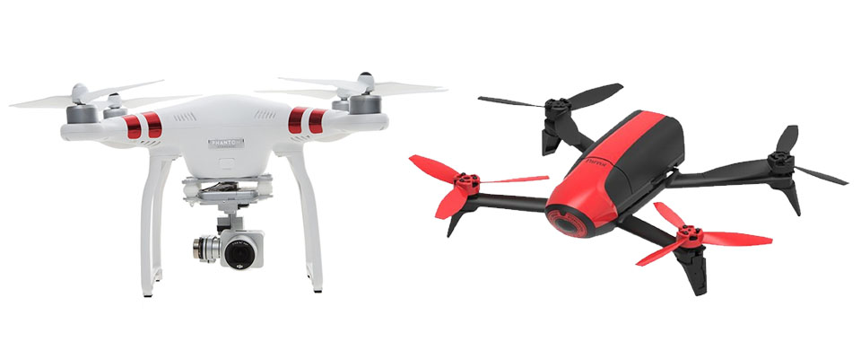Parrot Bebop Vs Dji Phantom 3 And 4 Pro And Advanced