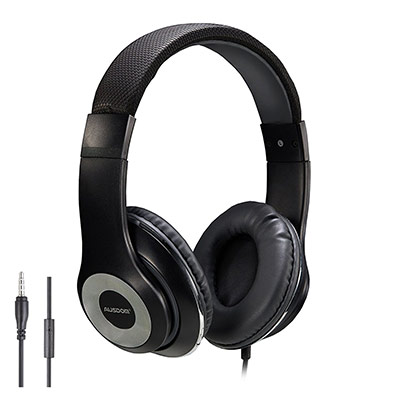 AUSDOM Lightweight Over-Ear Wired HiFi Stereo Headphones