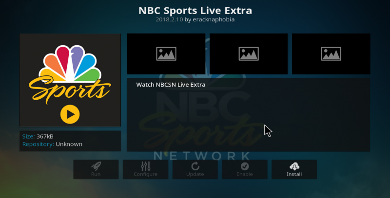 NBC Sports Live Extra Kodi Add-on