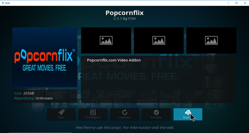Popcornflix Kodi Add-on