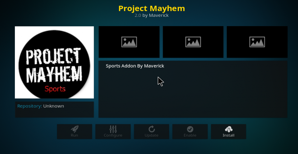 Project Mayhem Kodi Add-on
