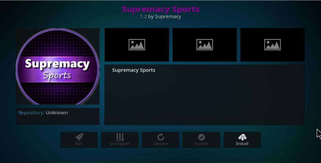 Supremacy Sports Kodi Add-on