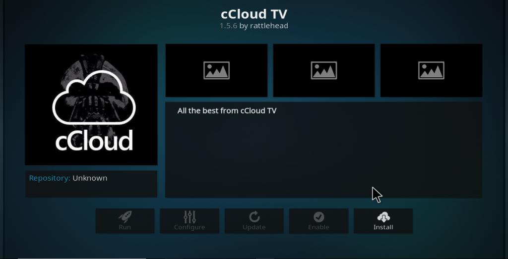 cCloud TV Kodi Add-on