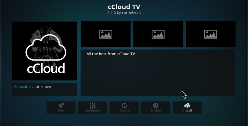 cCloud TV Kodi Add-on