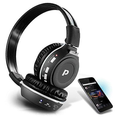 Pyle Premium Wireless Bluetooth MP3 Headphones