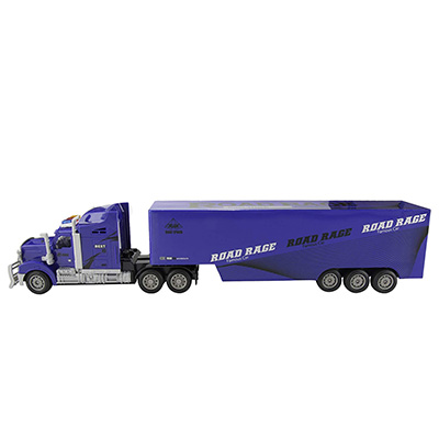 RC Blue Semi Truck with Trailer