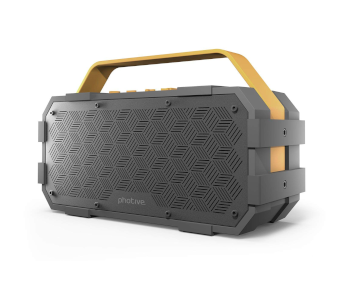 Photive M90 Portable Waterproof Bluetooth Speaker with Built In Subwoofer