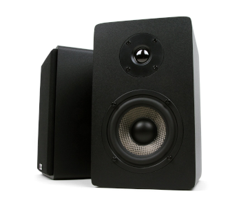 Micca MB42X Bookshelf Speakers With 4-Inch Carbon Fiber Woofer and Silk Dome Tweeter