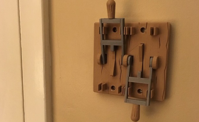 Frankenstein Light Switch Plate with 2 Switches!