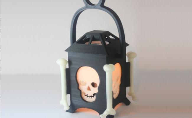 Led Skull Lanterna