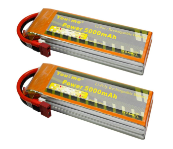Youme 11.1V 5000mAh 3S LiPo Battery Pack