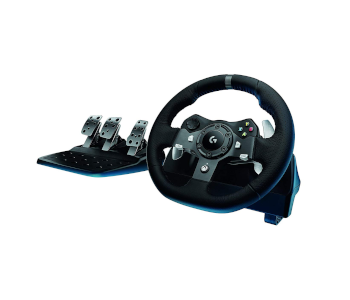 Logitech G920 Dual-Motor Feedback Racing Wheel with Responsive Pedals
