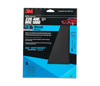 """3M 9"""" x 11"""" Sandpaper with Assorted Grit Sizes"""