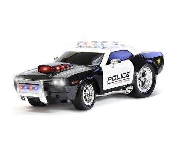 KidiRace Durable Realistic 2WD RC Police Car