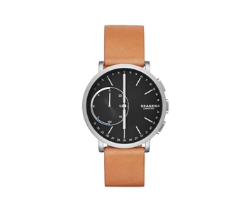 Skagen Connected Men's Hagen Titanium and Leather Hybrid Smartwatch