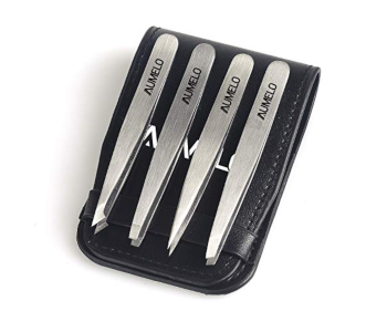 Steel Tweezers 4-Piece Set