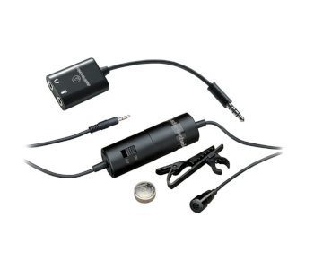 Audio Technica ATR-3350IS Omnidirectional Lavalier Microphone