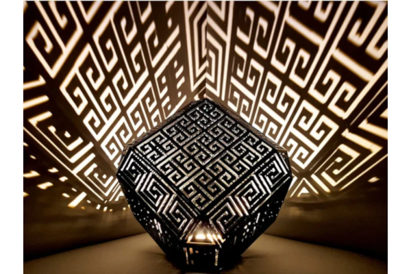 Greek meander lamp