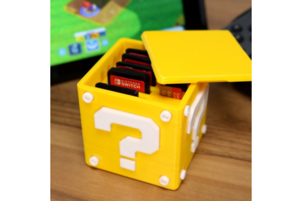 Question block case for Switch cartridges